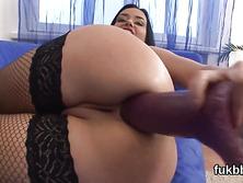 Nasty centerfold spreads her vulva and enjoys hardcore sex