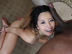 Horny babe Asian Sayeh wants a cock pussy