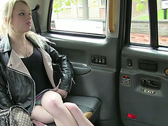 Lovely Blonde teen April gets public cab sex style