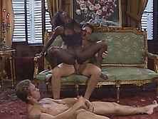 DP action with amazing ebony slut