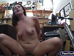 Hot wife of a customer boned by pawn man
