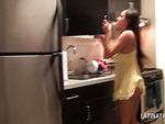 Auburn teen latina hottie giving her best BJ in POV