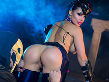 Black haired Aletta Ocean withstand a massive dick of Danny D