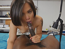 Sexy Asian Tailor Sucks Huge Black Dick And Gets Pussy Dominated