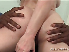 Hot blonde pussy smashed by huge black dick