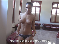 Hot and busty Athina Love receives cum after getting fucked in public