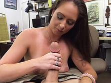 Mature sex toys seller arrives in the shop and end up getting fucked