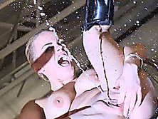 squirting on public stage