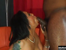 Jazmine Cashmere is enjoying a MMF, hardcore, all black threesome, where she gets