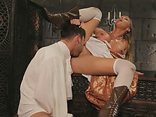 Blonde Cinderella getting her pussy rammed by the prince