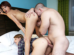 An after party sex action with a bunch of beauties