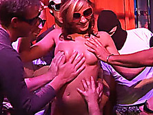 her first real gangbang orgy