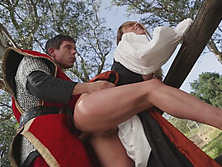 Sleeping Beauty Gets Blown Away By Intense Outdoor Sex With Stud