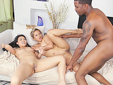 Asian massage interracial threesome fucking