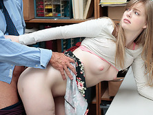 Blonde Dolly Leigh was being inspected by the Lp officer