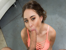 Riley Reid swallows her boyfriends thick cock