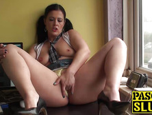 Hot big ass mature brunette Montse finger fucking her cunt