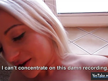 Sexy amateur blonde Eurobabe Anastasia fucked for cash