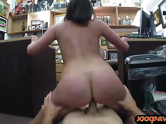 Customers wife banged by perv pawn keeper at the pawnshop