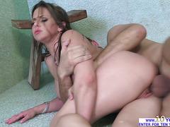 Busty blonde Rachel Roxxx in her orgasmic shower sex with Keiran Lee