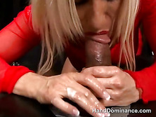 Babe Is Riding On Her Slave
