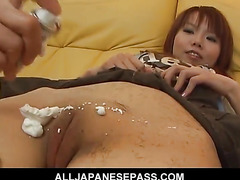 Cute and adorable Himena Ebihara pussy shaved