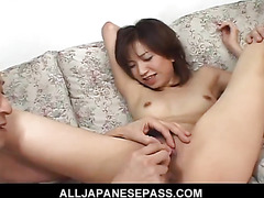 Hottie Airi Nakajima takes on two throbbing cocks at once