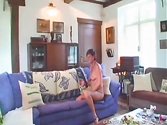 Grey-Haired Granny Sofie Gets A Double Dipping Of Big Cock