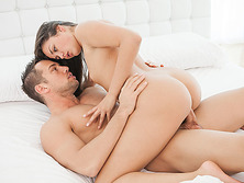 Allie Haze gets erotic yet affectionate sex and receives cumshot