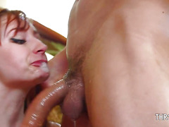 American nasty milf deeply fucked in her throat