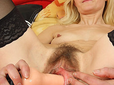 Petite hirsute puss madame Antonie first time movie