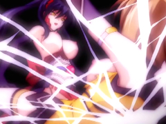 Trapped hentai in spidernet and hot fucked by shemale anime