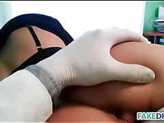 Hot babe in fake hospital