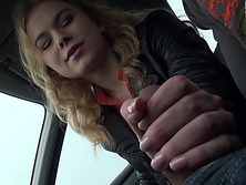 Curly haired Nishe fucks in the backseat