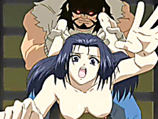Virgin hentai with pinched bigtits fucked by bigman and monster cock