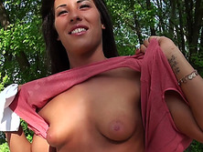 Amateur Maria Fiori stuffed for money