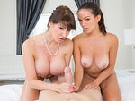 Eva Karera and Shae Summers sharing cock
