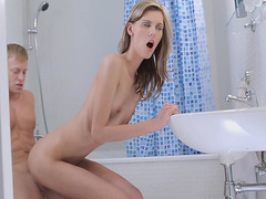 Small titted blonde gets her taco fucked