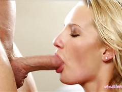 Cute Cali Carter smashed by huge shaft