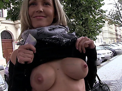 Eurobabe Blanka Grain fucked for money