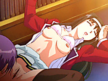 Japanese hentai schoolgirl hard poked by shemale in the library room