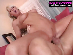 Blond young girl yells while she fucks pt 2
