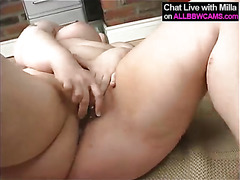 horny sexy fat BBW fucks herself 2