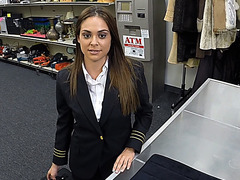 Fucking a Latina Stewardess