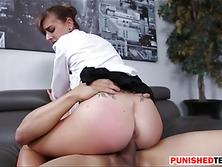 Hot brunette babe Dakota Vixin gets pussy fucked in office