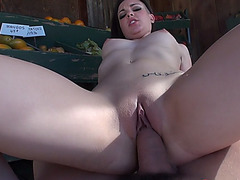 Curvy ho Rachael Madori fucked outdoors