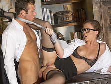 Sexy Secretary Maddy OReilly gets fuck by his boss bigcock at office