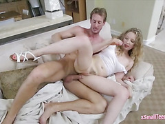 Curly hair Willow Lynn boned by big dick