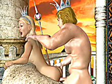 3D hentai King and Queen hot fucking in the castle