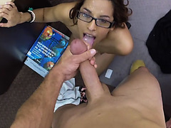 Horny hot babe fucking for some easy money
